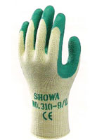 310 Grip Green Glove HEAVY WORK - GRIP Seamless cotton/polyester line. Latex-coated palm. Image
