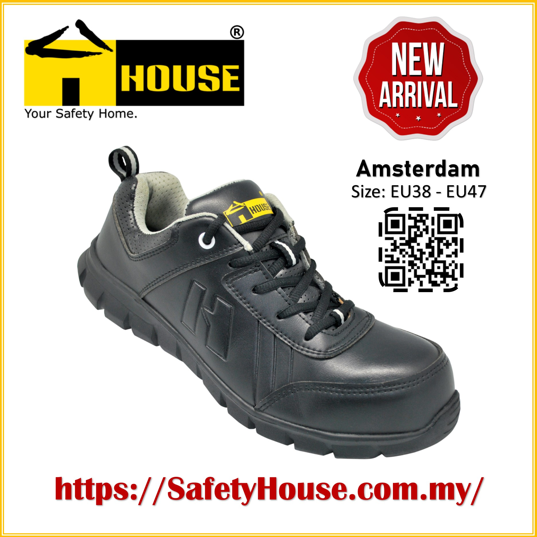 HOUSE AMSTERDAM SAFETY SHOES C/W COMPOSITE TOE CAP & ARAMID MID SOLE Image