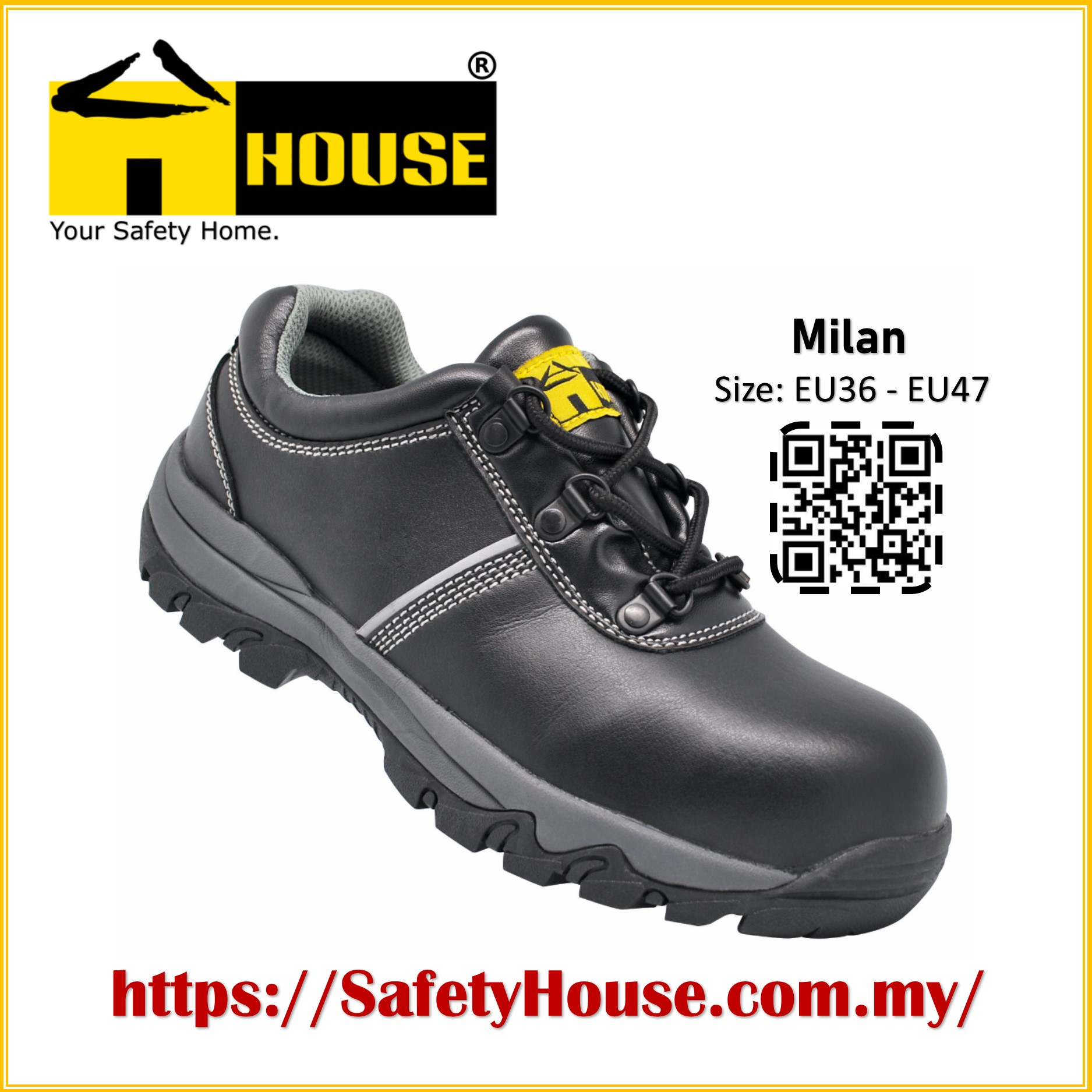 HOUSE MILAN SAFETY SHOES C/W COMPOSITE TOE CAP & ARAMID MID SOLE Image