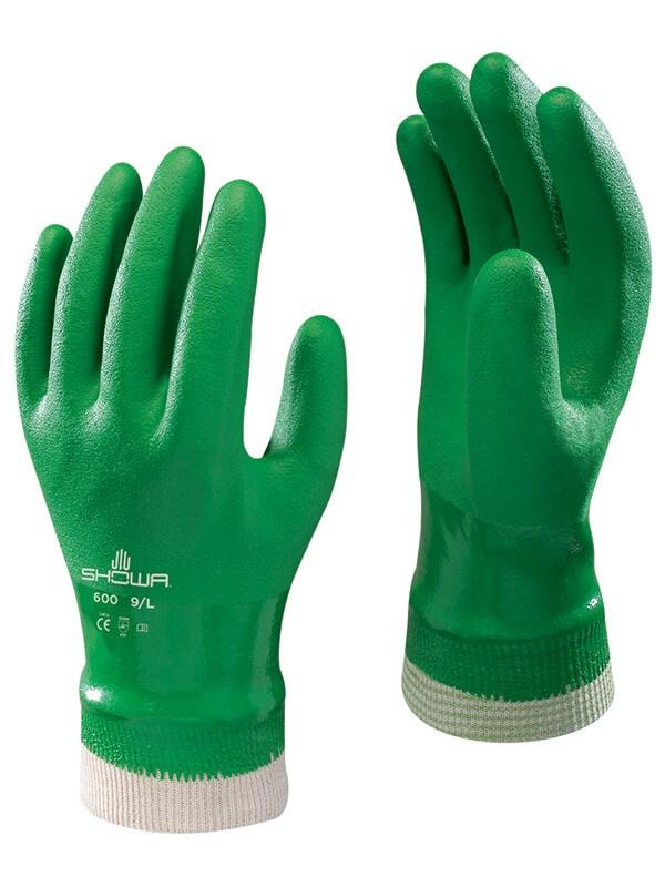 Showa PVC Fully Coated Cotton Knit Glove Image