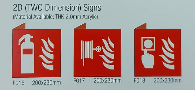 2 Dimension Signs 200x230mm Image