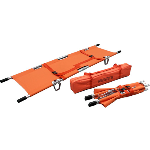 Double Fold Stretcher w/ sewn 2 straps & carry bag Image