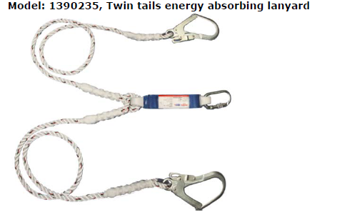 Protecta Twin Tails Energy Absorbing Lanyard Image